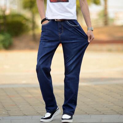 新款时尚休闲男士加大加肥宽松直筒牛仔裤【限价79元】012