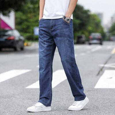 春夏新款薄款宽松直筒阔腿裤男士牛仔裤【限价79元】7011b