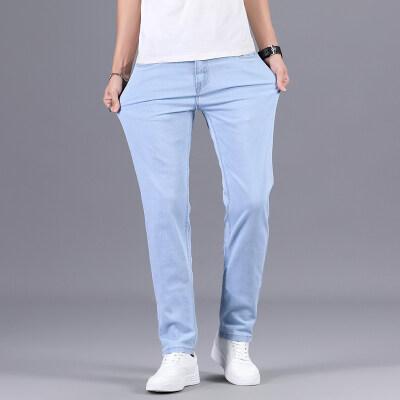 新款时尚休闲男士修身直筒弹力牛仔长裤【限价79元】207
