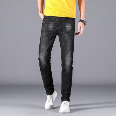 新款时尚休闲男士修身直筒弹力牛仔裤【限价79元】1604b