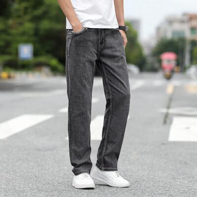 春夏薄料新款宽松直筒阔腿裤男士牛仔裤【限价79元】068b