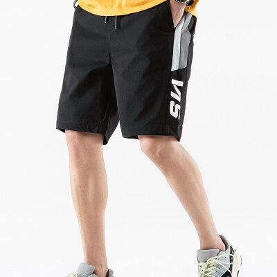 男士短裤夏季休闲五分中裤子外穿七分马裤宽松沙滩裤运动大裤衩潮