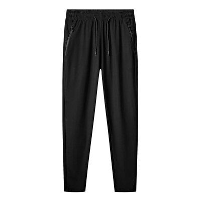 2020夏季男士休闲裤薄款修身冰丝裤子潮男户外速干运动裤大码