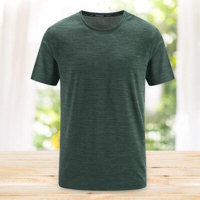 短袖t恤2020夏季透气速干衣男装运动冰丝肤跑步健身体恤T