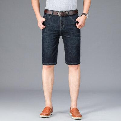 牛仔短裤男士宽松5五分裤夏季薄款中裤7七分裤男弹力百搭马裤男