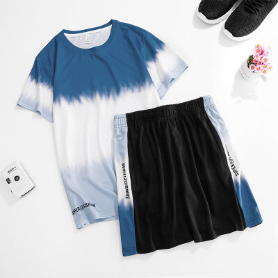 运动套装男跑步健身篮球透气夏季薄款速干衣服宽松女冰丝短袖短裤