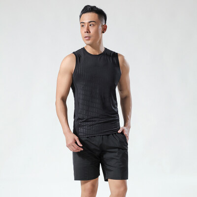 背心男士运动宽松内穿冰丝速干健身篮球无痕透气夏季潮