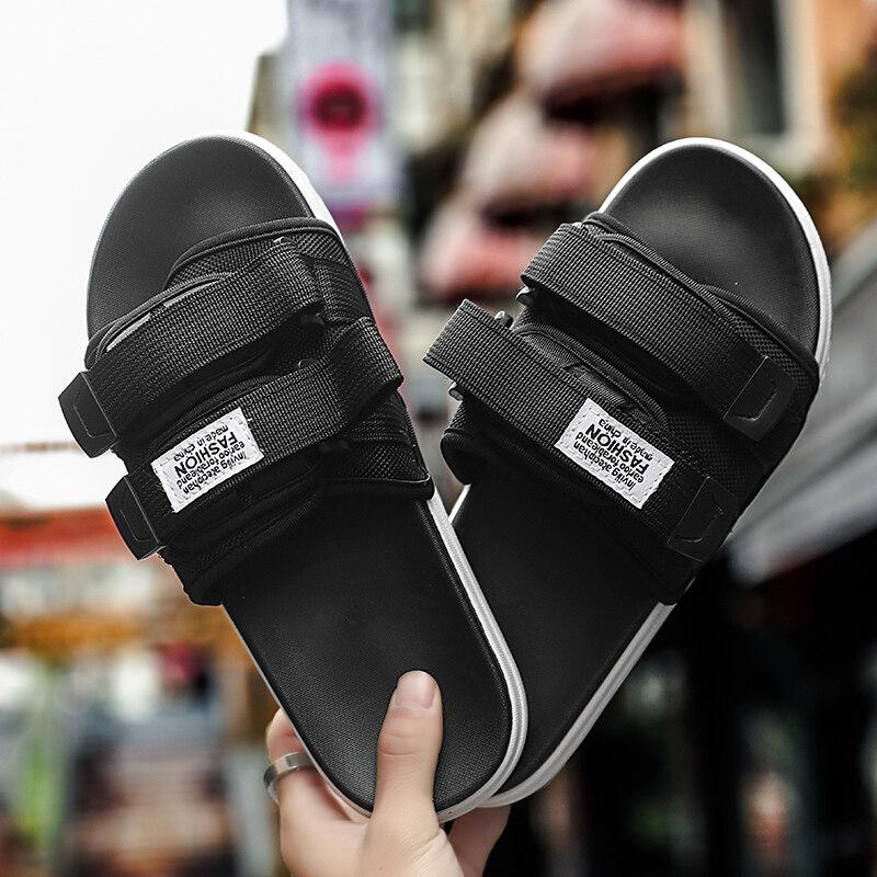 T003高转化 量大优惠 抖音同款个性户外穿情侣拖鞋男女沙滩鞋一字拖