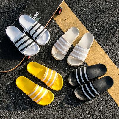 【誉诚鞋业-T85301+视频】新款飞织鞋面一字拖一口价20
