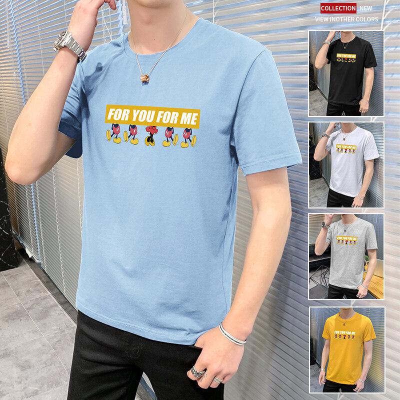 TC233TC233短袖男夏季潮流男士t恤帅气圆领体恤男生休闲半袖上衣