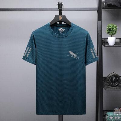运动健身速干衣男短袖t恤圆领透气夏季跑步紧身快干服饰上