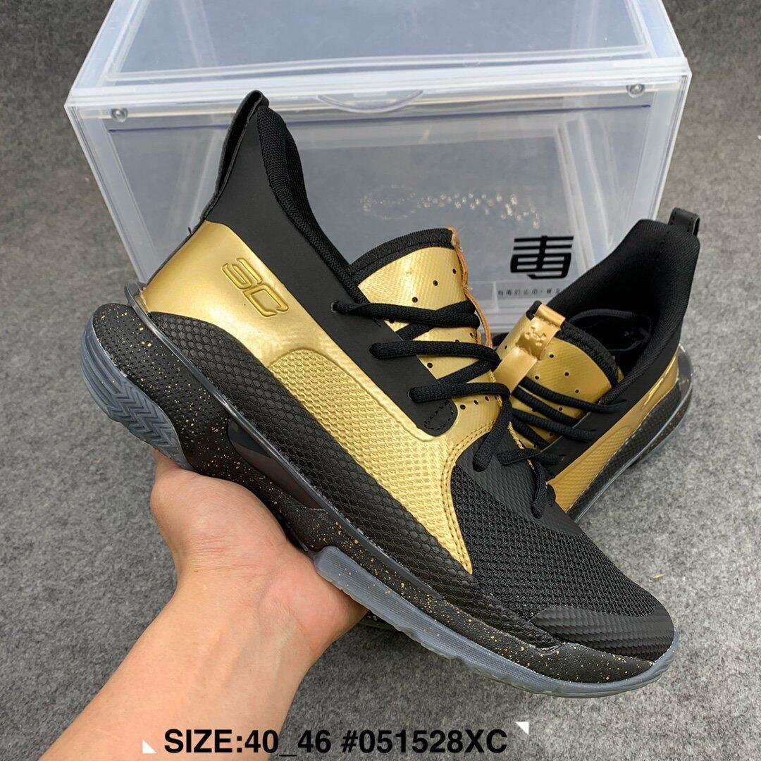 111771莆田鞋 UA Curry 7 库里7代男鞋篮球鞋 冠军黑金