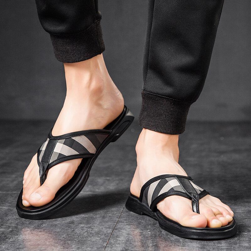 98209-1  织物+橡胶底新款型男拖鞋 寻潮人98209-1