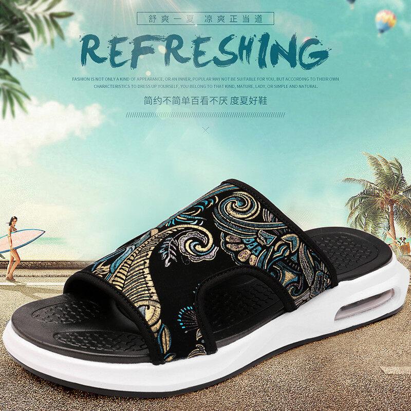 2066堡路马时尚真皮新款牛皮沙滩鞋休闲夏季凉拖鞋