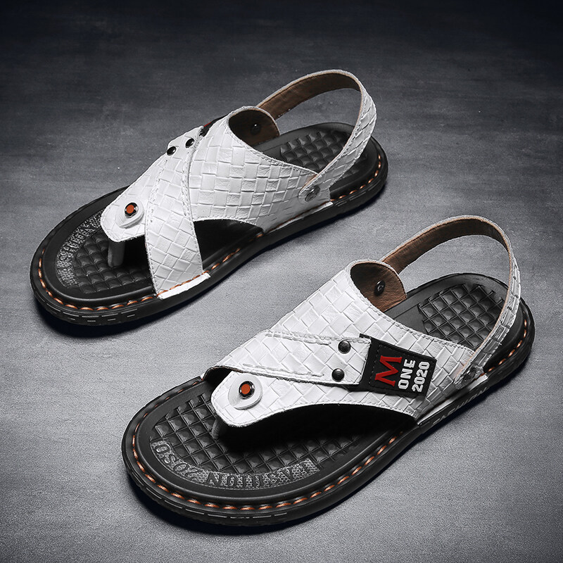 16891真皮人字拖男凉鞋拖鞋男鞋潮鞋