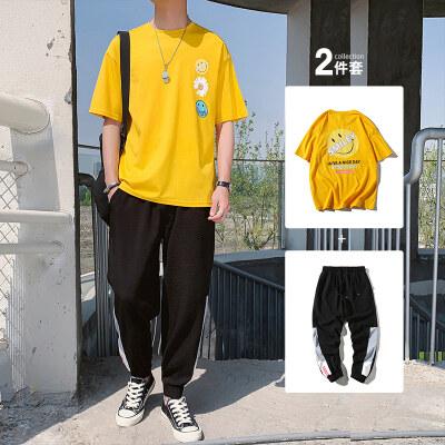 2020短袖T恤男士套装五分潮流帅气夏季体恤潮牌衣服男装BT304 P50