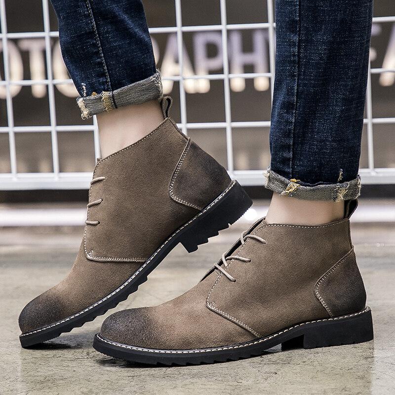 A258-862P125862P125控价155  春季高帮鞋马丁靴男鞋英伦休闲潮鞋复古鞋工装鞋