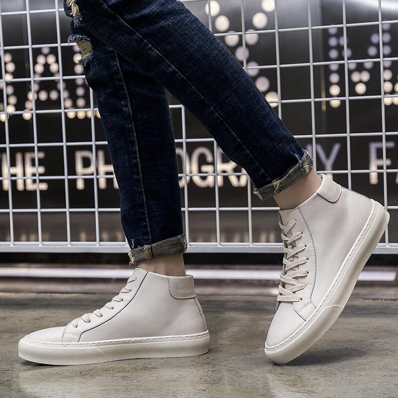 A258-861特P88861 特P88 控价155 春季新款潮鞋真皮简约潮流休闲鞋时尚舒适男鞋