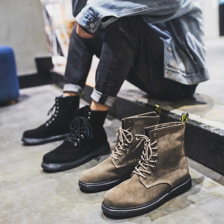 855p30控168  电商A258鞋855特p30  真皮马丁靴潮流高帮鞋2020春季新款男鞋时尚舒适牛皮靴