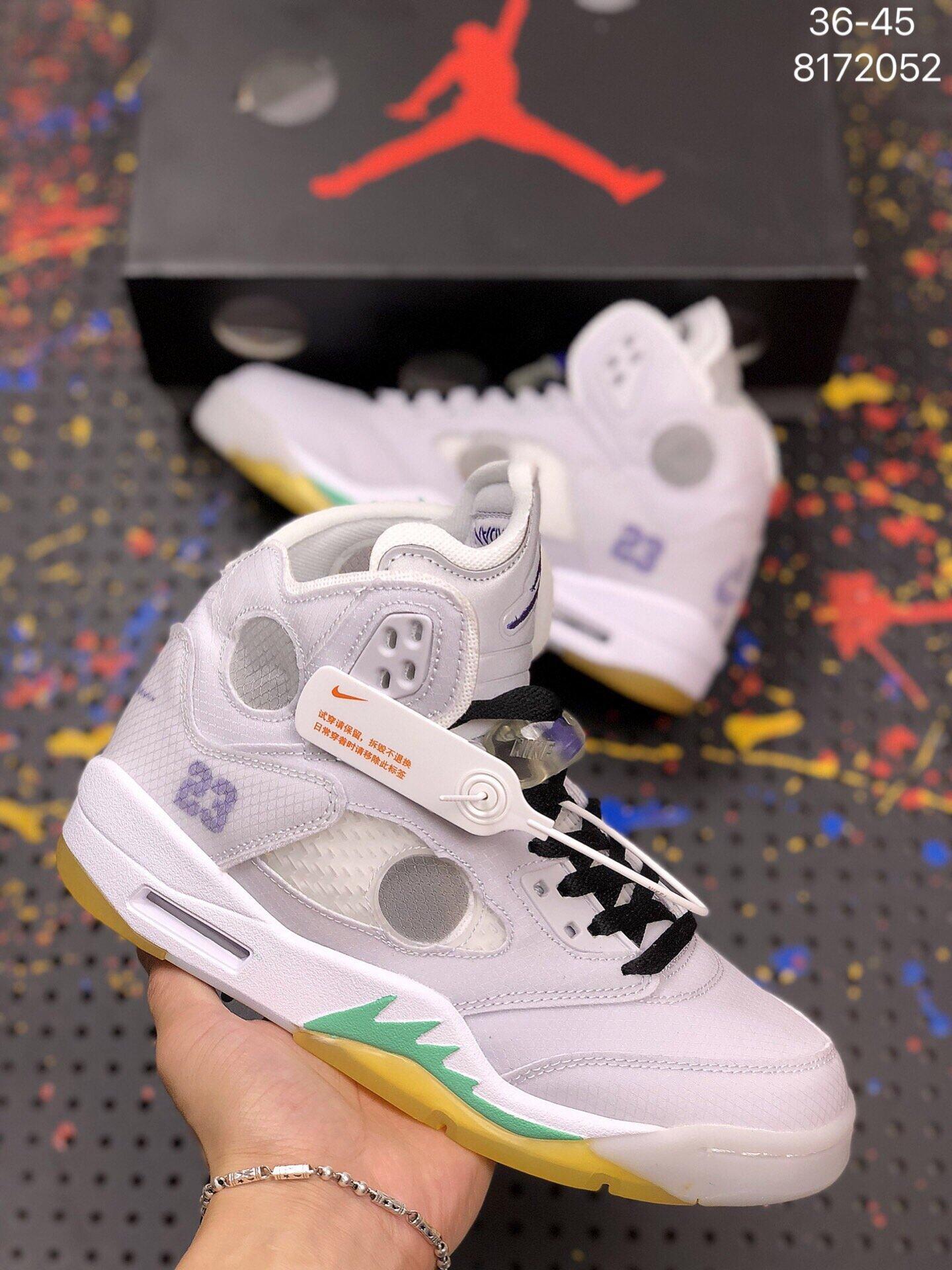 2519AJ5乔5代联名冰激凌高帮系带男女鞋篮球鞋运动鞋 莆田靴