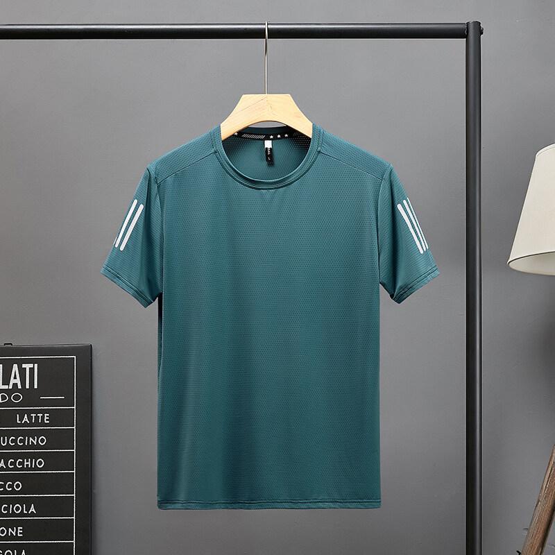 2021-2夏季大码阳离子网眼面料超感冰爽降温户外休闲男短袖T恤