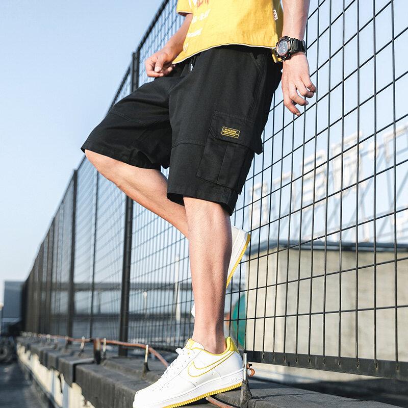 K716男装夏季潮流多口袋宽松五分裤工装裤短裤