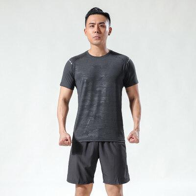 短袖t恤男潮牌运动速干夏季T恤冰丝薄款透气衣服半袖圆领潮男