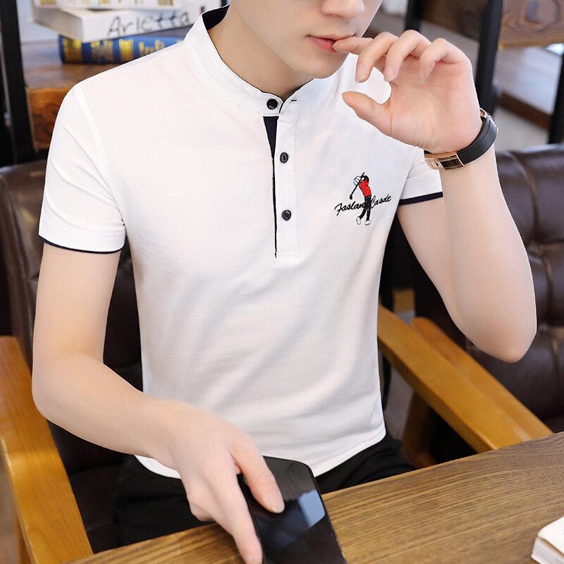 911夏季短袖polo衫男翻领t恤休闲上衣服男士潮流韩版半袖体恤