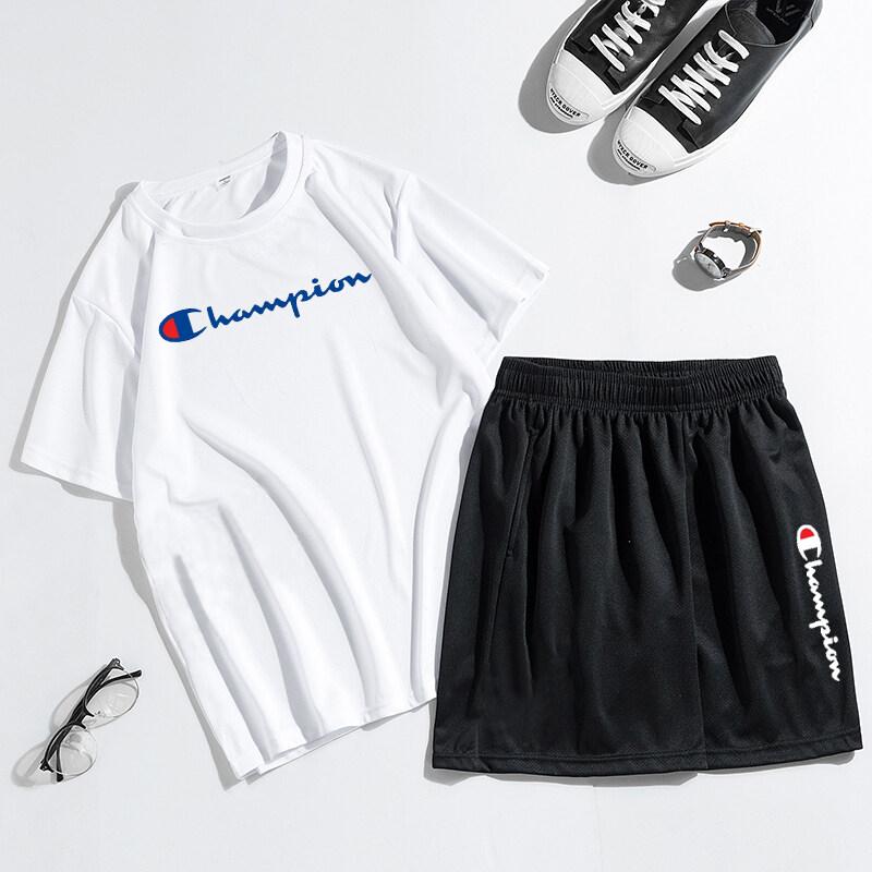 79192020新款男短袖短裤休闲套装时尚百搭男套装冠军厂家直销爆款