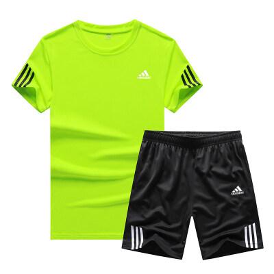 休闲裤运动套装短裤2020新款短袖t桖T恤abodis两件套