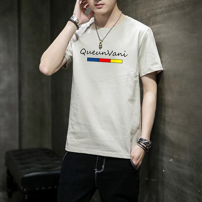 2013厂家直销新品短袖t恤100纯棉高品质百搭时尚T恤不起球有工厂