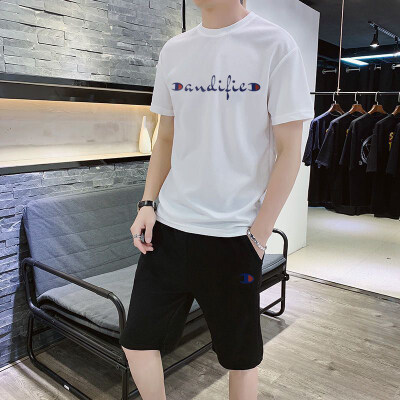 10万套现货 冠军休闲裤运动套装短裤2020新款短袖T恤网眼
