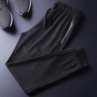 空调裤时尚潮男镂空速干裤透气小脚休闲裤长裤