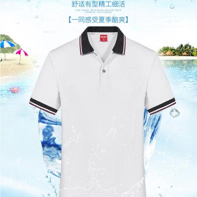 2020夏季新款男士短袖T恤修身翻领polo衫上衣