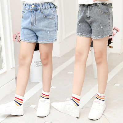 女童牛仔短裤中大童韩版夏季儿童外穿裤子薄款童装百搭洋气牛仔裤