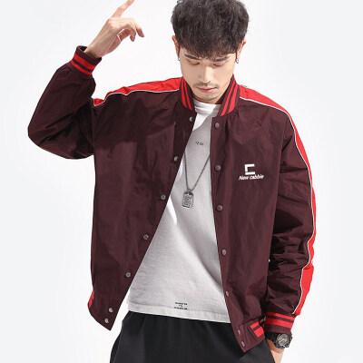 棒球服教练夹克男韩版潮流2020新款街头运动风外套青少年