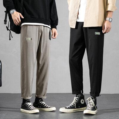 春秋男装男裤休闲裤男运动裤男长裤时尚百搭九分裤BK299-1-特p25