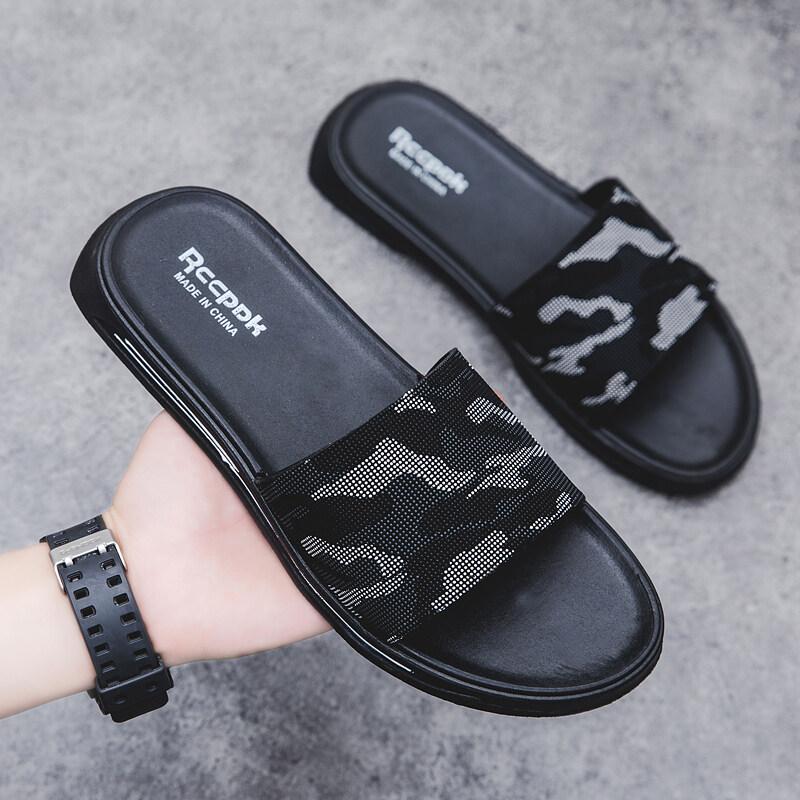 K0120新款夏季男鞋凉拖鞋男拖鞋一字鞋室外鞋迷彩