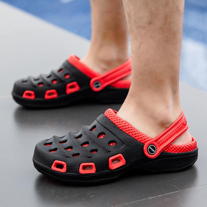 K0220夏季爆款男鞋凉鞋洞洞鞋沙滩休闲男凉拖花园鞋