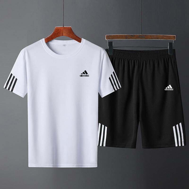 AD11休闲裤运动套装短裤2020新款短袖t桖T恤abodis两件套