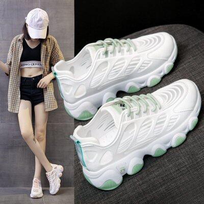 老爹女鞋ins百搭夏季透气网面薄款网鞋2020新款休闲运动小