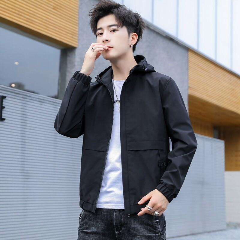 3133男士秋季新款夹克外套潮流韩版帅气青少年百搭学生休闲男春秋上衣
