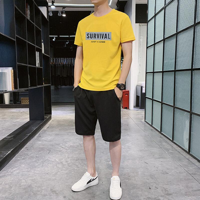 F883夏季短袖t恤男士2020新款上衣宽松圆领男款时尚休闲夏天潮流