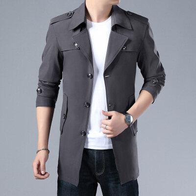 新品风衣男高品质商务时尚风衣中长款外套一件代发6颜色8个号码