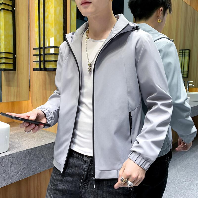 3166男士秋季新款夹克外套潮流韩版帅气青少年百搭学生休闲男春秋上衣