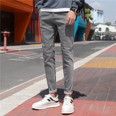 潮流男裤牛仔裤修身型小脚裤子青年休闲款秋季款弹力韩版长裤