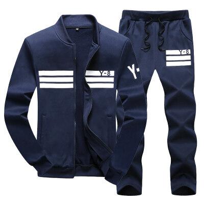 秋季套装男2018新款韩版潮流男士休闲运动套装长袖两件套