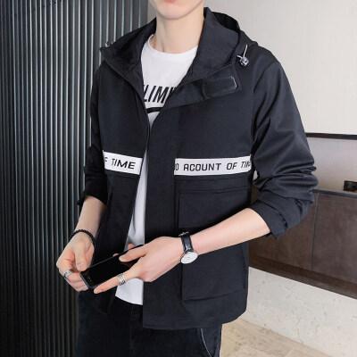 男士工装夹克外套2020秋季新款韩版潮流百搭休闲帅气ins潮
