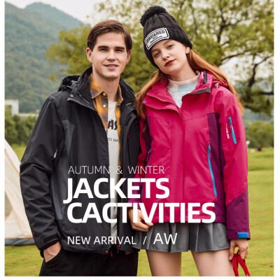 2020新款冲锋衣三合一登山滑雪服男女潮版韩版防水保暖两件套