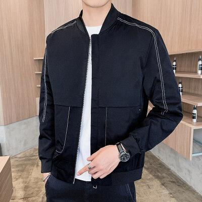外套男士2020春秋韩版帅气潮流男装上衣休闲百搭潮牌工装夹克